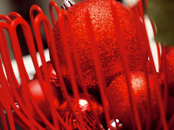 Najkrajšie ozdoby – červená = klasika