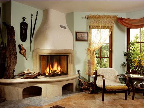 Obývacia izba s kozubom