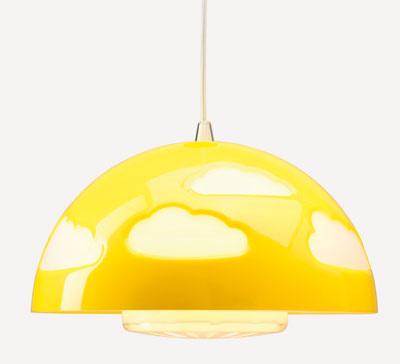 Žltá závesná lampa Skojig, dizajn Henrik Preutz