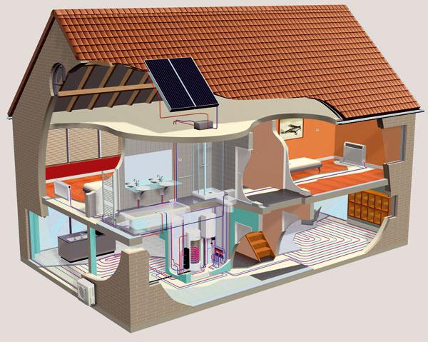 Tepelné čerpadlo vzduch – voda je určené na nízkoteplotné vykurovanie rodinných domov aj s celoročným ohrevom teplej úžitkovej vody a tiež chladením počas horúcich letných dní. Pracuje až do teploty –20 °C, takže počas celej vykurovacej sezóny je schopný dodať teplo potrebné na vykúrenie domu. Zohrieva vykurovaciu vodu na 50 °C, čo by malo byť v dnešných domoch s dobrou izoláciou a modernou vykurovacou sústavou postačujúce. (foto: Daikin)