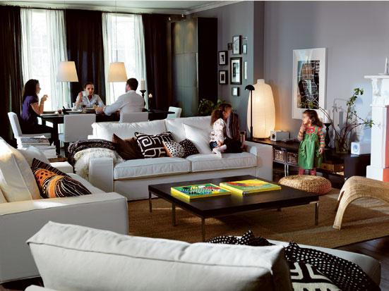 Jedáleň spojená s obývacou izbou