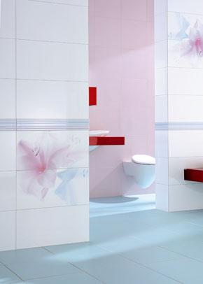 Ružová kúpeľňa s WC