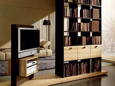 Obývacia izba - knižnica