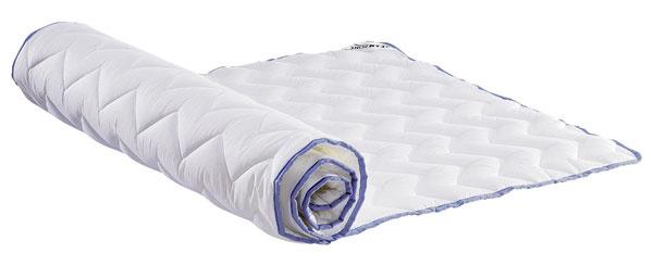 Matracový chránič PLUS T25 je praktický (matrac sa tak nešpiní) aľahko sa udržiava (možno ho prať vpráčke), cena 46,99 € (80 × 200 cm), predáva JYSK.