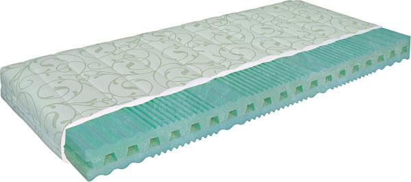 Penový matrac Clima so špeciálnym odvetrávacím systémom aodzipsovateľným poťahom, cena od 204 €, predáva Nábytok Galan.