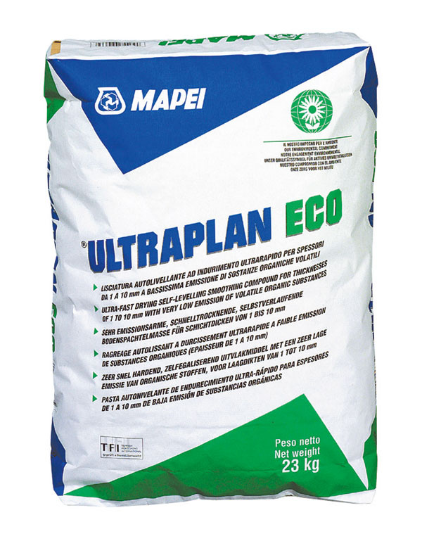 samonivelizačná cementováj stierka Ultraplan Eco Zdroj: MAPEI SK s.r.o.