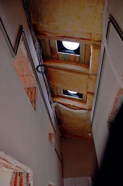 Vstavba svetlovodu do strechy