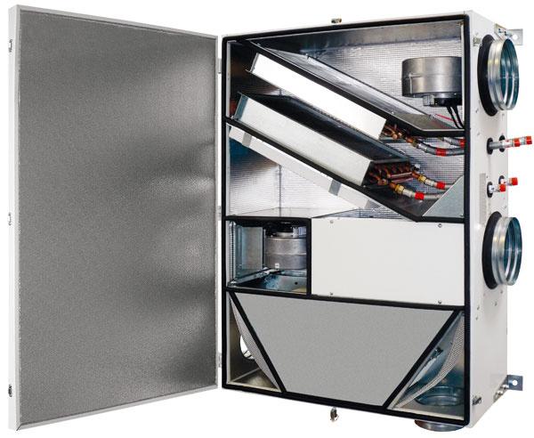 Príklady vzduchotechnických jednotiek s rekuperáciou tepla. Zariadenia tohto typu môžu mať rôzne tvary aj vnútorné usporiadanie. (foto: Atrea)