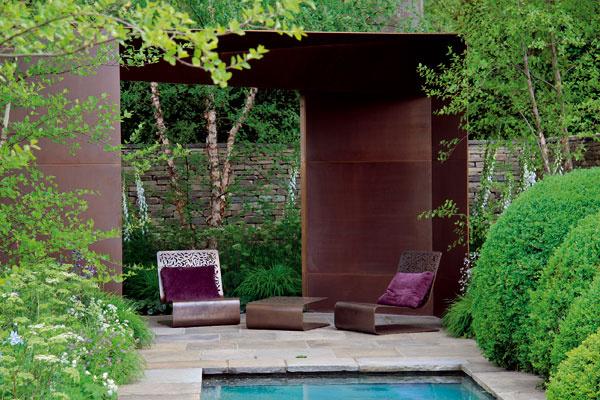 Aj na malom priestore môže vzniknúť nádherná minimalistická mestská záhrada.