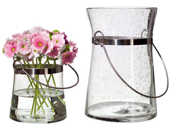 Váza IKEA PS Brunn zfúkaného skla aocele.