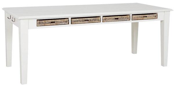 Jedálenský stôl Grasse od firmy Riviera Maison so zásuvkami zrotangu