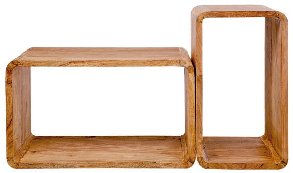 Súprava dvoch stolíkov Cuben zo série Authentic je univerzálne použiteľná.