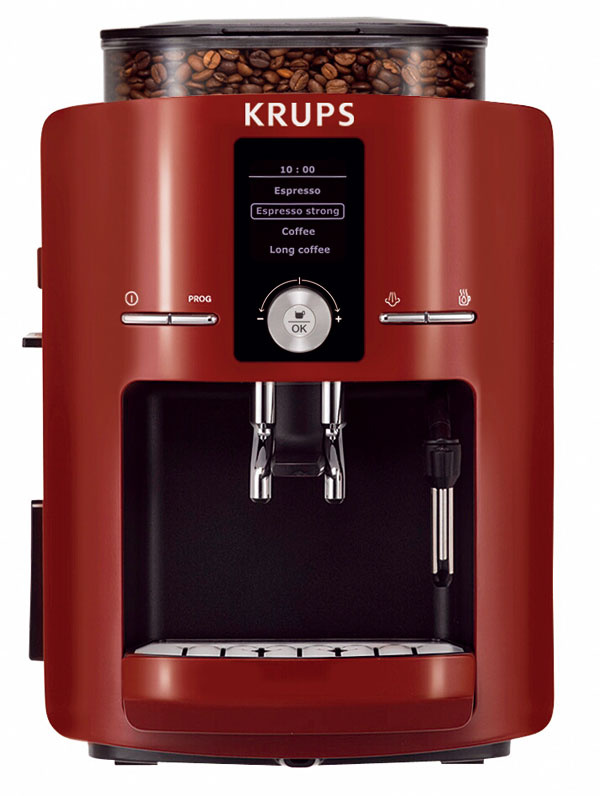 Automatický kávovarKrups EA8255 stermoblokom.