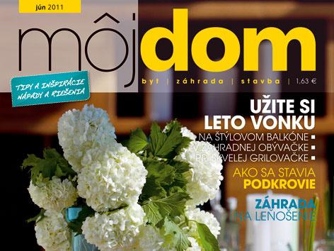 Časopis Môj dom jún 2011 v predaji