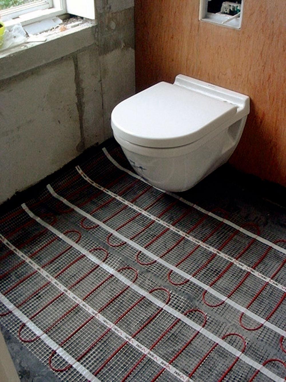 Elektrická vykurovacia rohož zvýši komfort užívania kúpeľne bez zbytočného zvyšovania úrovne podlahy