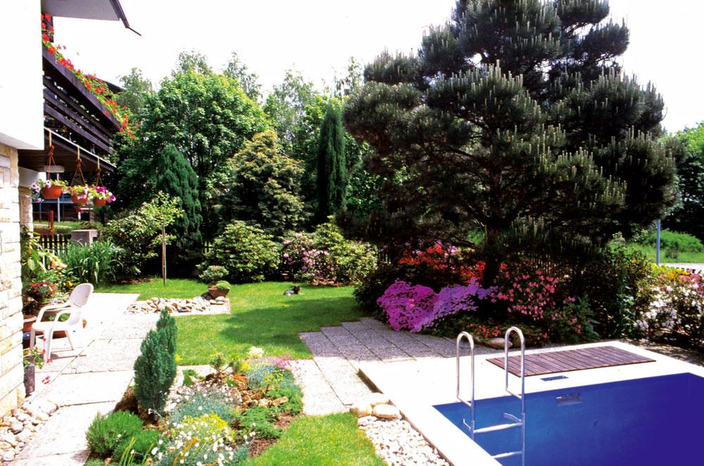 V lete bazén na kúpanie, v zime úkryt pre rastliny. Záber zroku 1999
