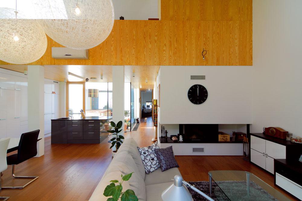 """""""Nábytok, ktorý sme kupovali do pracovne, sa nakoniec uchytil vobývačke. Svetelnú scénu vrátane sférických bielych svietidiel nám navrhol pán Buraj zNoxlight tak, aby sa bodové svetlá nerušili shlavným osvetlením."""""""
