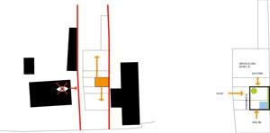 Dom vDevíne je situovaný na úzkom pozemku avtesnom susedstve so zástavbou rodinných domov. Snaha zachovať čo najväčšie súkromie vyústila do konceptu sátriom. Tento vnútorný priestor tvorí relaxačnú zónu apresvetľuje pozdĺžne radenú dispozíciu domu. Hneď pri vstupe do domu zaujme zeleň asvetlo za celozasklenou stenou átria. Umiestnenie átria vsrdci domu umožňuje priečne prevetranie pozdĺžneho interiéru.