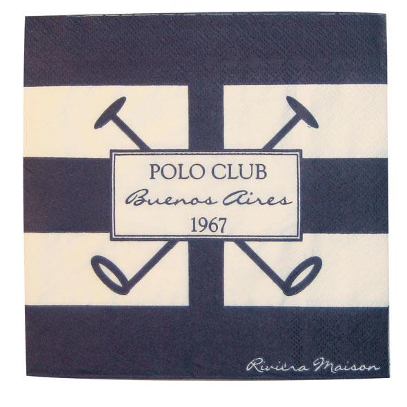 Servítky PoloClub 118220 od firmy Riviera Maison, 17 × 17 cm. Cena 5 €.