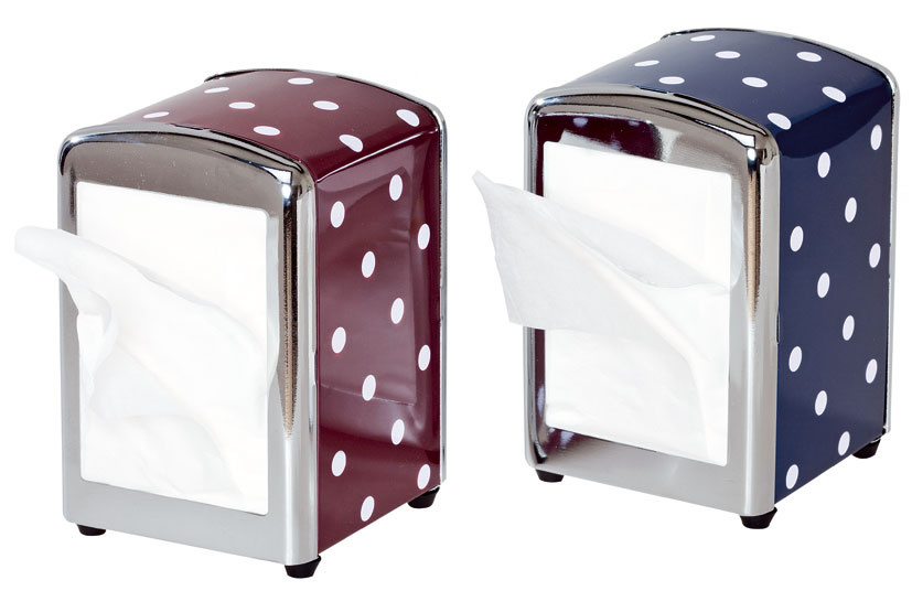Zásobníky Polo na papierové utierky. Rozmery: 10 × 9 × 15 cm. Cena 6,99 €.