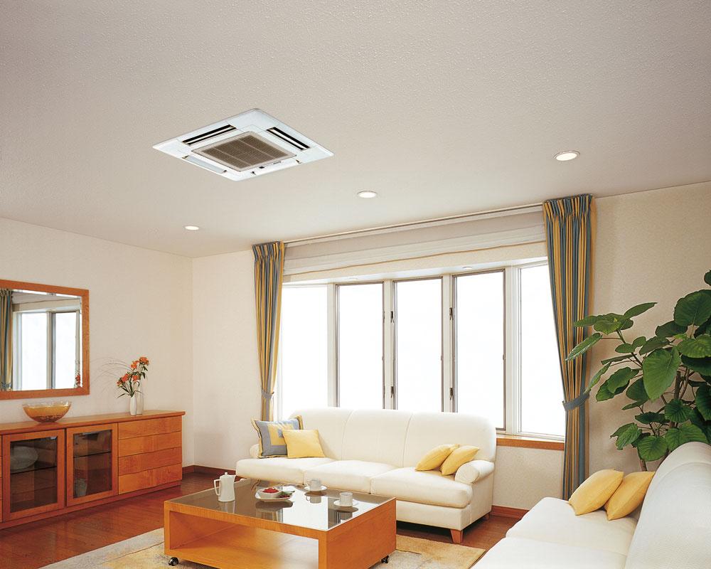 Štvorsmerná kazetová jednotka Mitsubishi Electric SLZ-KA je určená na osadenie do podhľadu. Vyfukovanie vzduchu do štyroch smerov zabezpečí jeho rovnomerné rozptýlenie aj vo väčších miestnostiach.