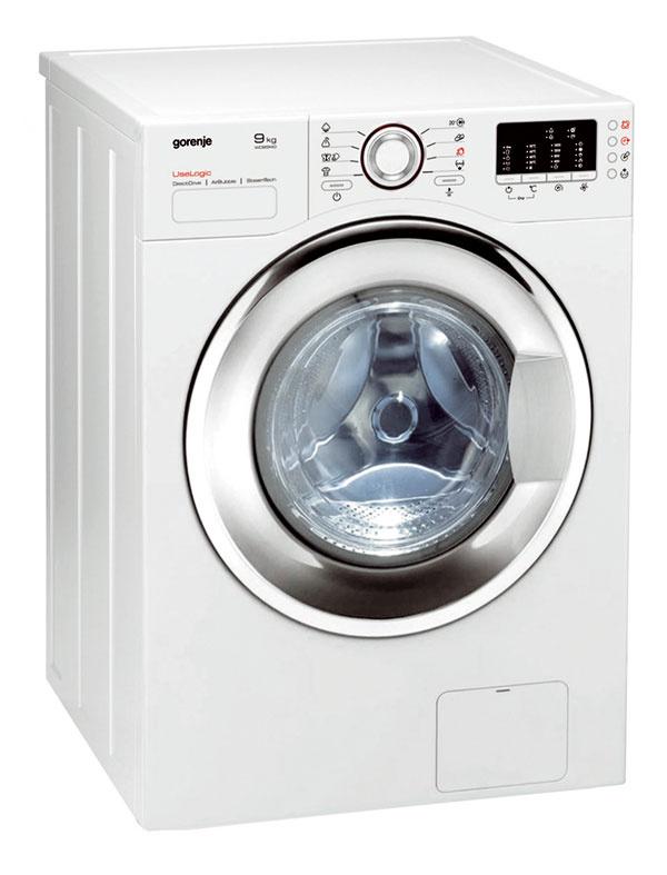 Automatická práčka so sušičkou Gorenje WD 95140 s elektronickým programátorom a LED displejom.  14 programov, tri stupne vlhkosti sušenia (veľmi suchá, suchá, na žehlenie), parný program (sušenie s využitím pary), SterilTub (samočistenie bubna práčky). Systém kontroly stability, ochrana proti pretečeniu, servisná diagnostika, bezpečnostná poistka dverí, odloženie štartu (12 hodín). Odstreďovanie 1 400 ot/min., kapacita 9 kg (pranie), 7 kg (sušenie). Spotreba el. energie 1,4 kWh, vody 57 l, hlučnosť 64 dB. Energetická trieda A+, Účinnosť prania a odstredenia A. Cena 999 €.