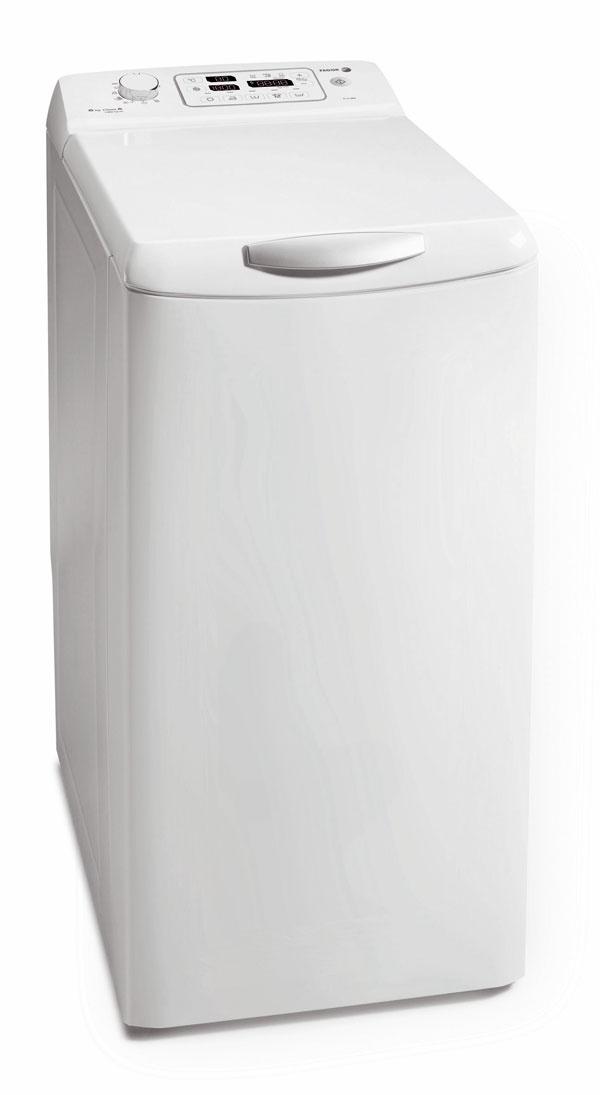 Zhora plnená práčka so sušičkou Fagor FT4136S na 6?kg bielizne. 16 programov, odstreďovanie 1 300 ot/min, ochrana proti pokrčeniu bielizne, Top-stop – zastavenie bubna s otvorom v hornej polohe. Spotreba vody 54 l, energie 1,14 kWh, účinnosť prania A, energetická trieda B. Rozmery: 85 × 45 × 60 cm. Odporúčaná cena 799 €.