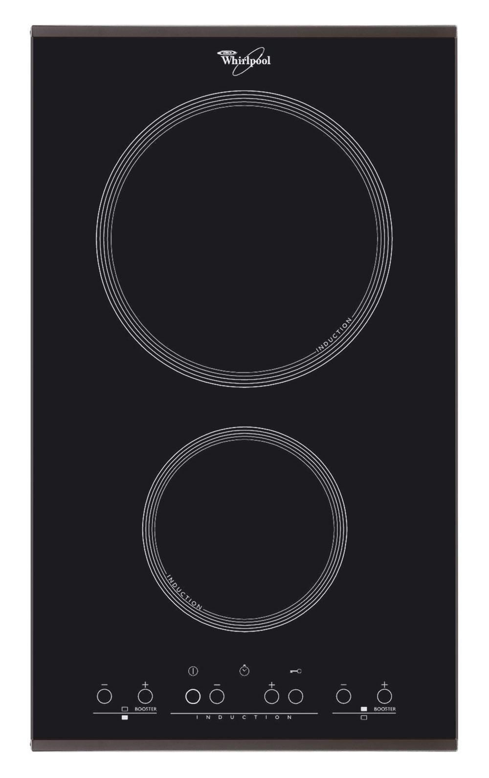 Indukčná varná doska Whirlpool ACM 712 so sklokeramickým povrchom má šírku 30 cm a dotykové ovládanie. Odporúčaná cena 349 €.