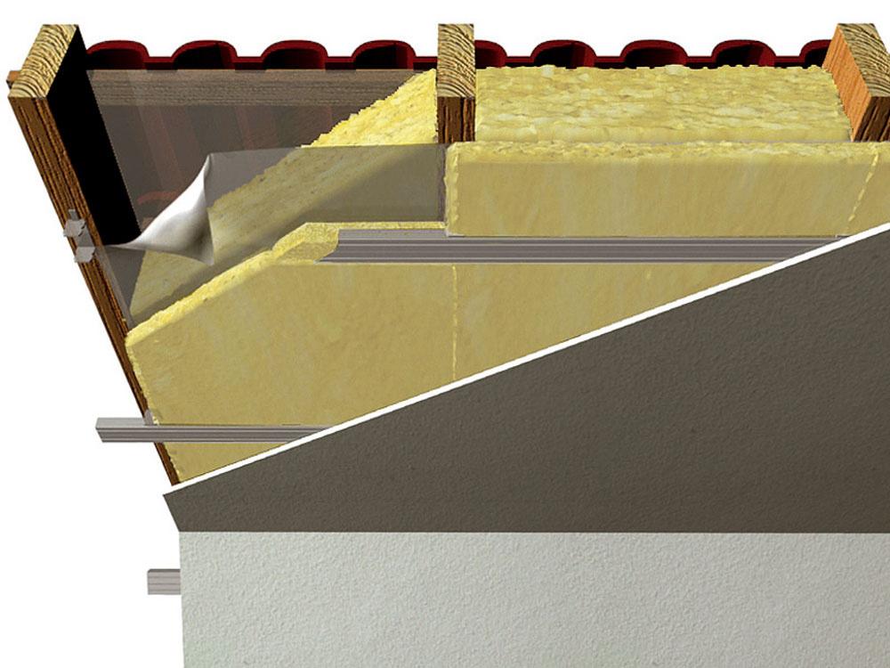 Tepelnotechnické požiadavky na konštrukciu striech sa vposledných rokoch sprísnili, čo vpraxi znamená zosilnenie hrúbky tepelnej izolácie. Vhodné je hlavnú vrstvu posilniť ďalšou vrstvou, ktorá sa ukladá priečne pod krokvy. Odstránia sa tým prípadné tepelné mosty voblasti krokiev. Parozábrana sa umiestňuje medzi vrstvy hlavnej aprídavnej tepelnej izolácie.