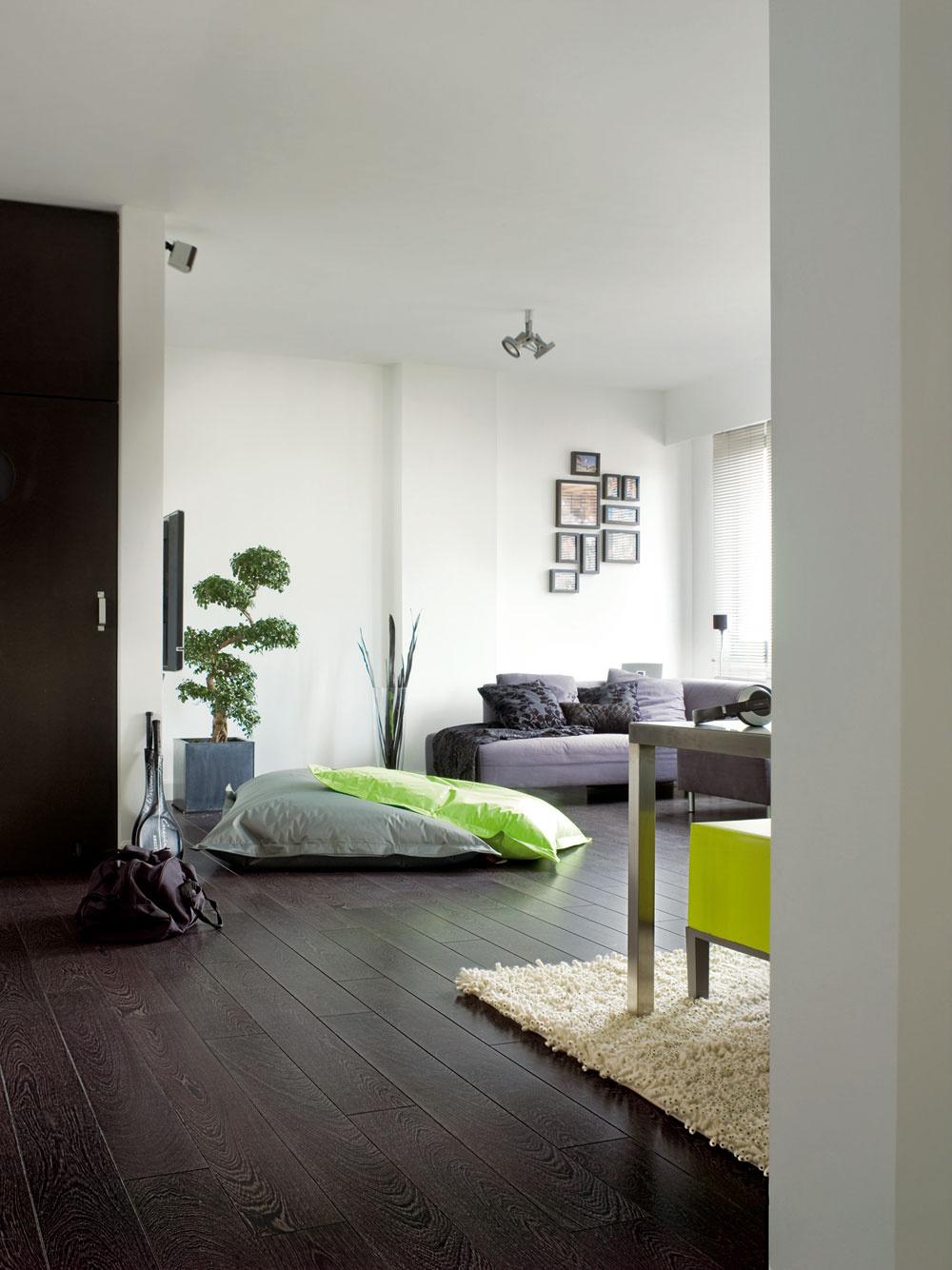 V otvorenom priestore, v ktorom sa stretáva viac funkcií, je moderná materiálová a farebná súhra. Plynulé prechody medzi funkciami vytvárajú harmonické prostredie bez prísne určených pravidiel a vďaka tomu vzniká aj uvoľnená atmosféra. Naozaj veľký priestor znesie aj štýlovú a materiálovú rôznorodosť zariadenia, no aspoň jeden prvok by mal spájať – napríklad rovnaká podlaha.