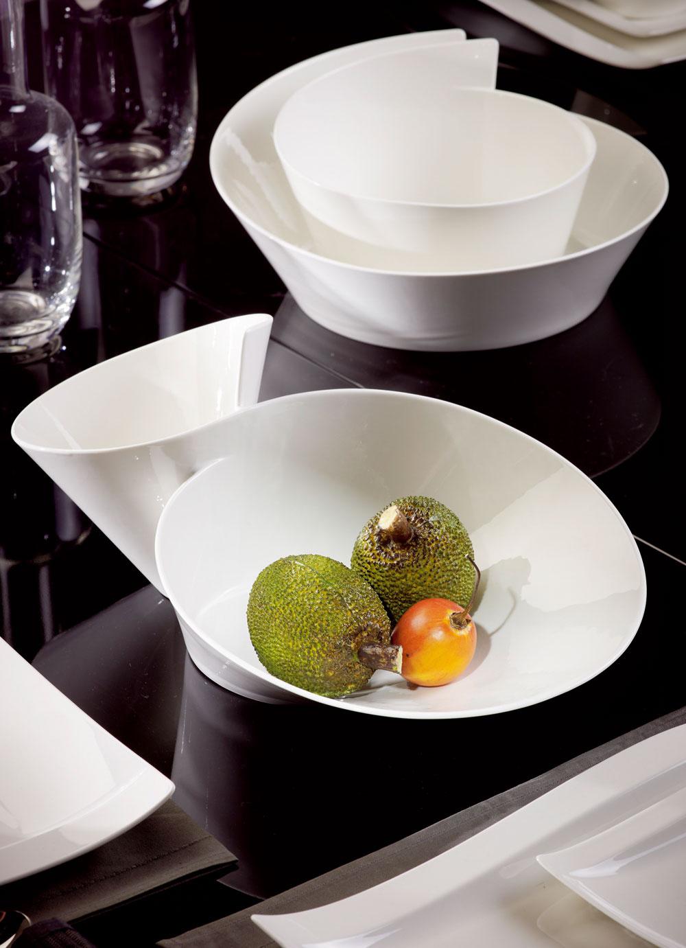Známy tvar šálky značky Villeroy & Boch preprogramovaný do elegantnej dvojmisky