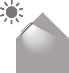 V letných mesiacoch reguluje vonkajšia markíza množstvo slnečného tepla a svetla prechádzajúceho do interiéru bez toho, aby obmedzovala výhľad.(schéma)