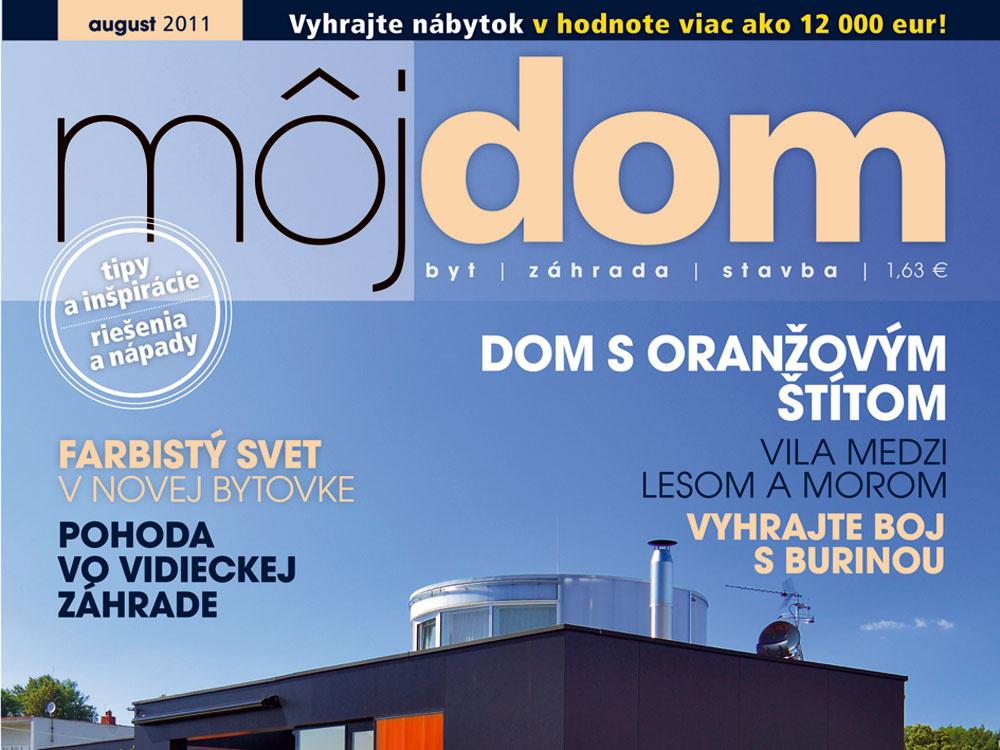 Časopis Môj dom august 2011 v predaji