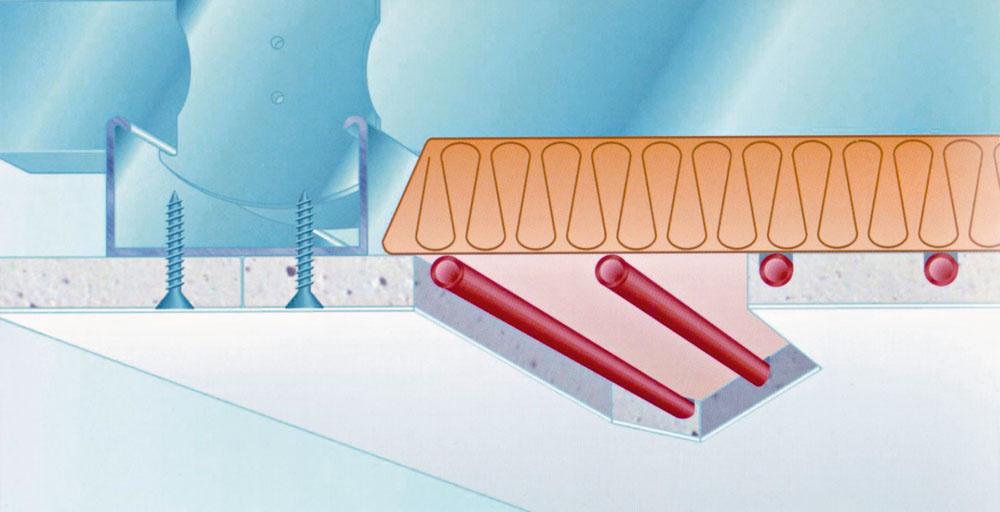 Sadrokartónový systém možno montovať aj dodatočne v už zariadenom interiéri.