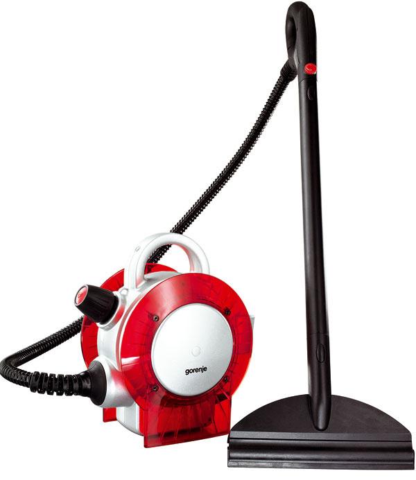 Parný čistič Gorenje ULYSSES SC 1800R – čistí podlahy, škáry, okná, sanity, automobilové disky, záhradný nábytok, tepuje koberce. Výkon 1800 W, maximálny tlak 5 bar, dvojitý bezpečnostný systém, parný generátor 1,2 l znehrdzavejúcej ocele, indikátor ohrevu, dĺžka pripájacieho kábla 5m, praktický remeň na plece, lievik na nalievanie vody. Dvojitý bezpečnostný systém, nastaviteľný výkon pary. Cena 159 €.