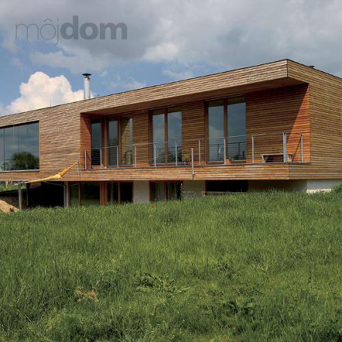 Rodinný dom s dreveným obložením