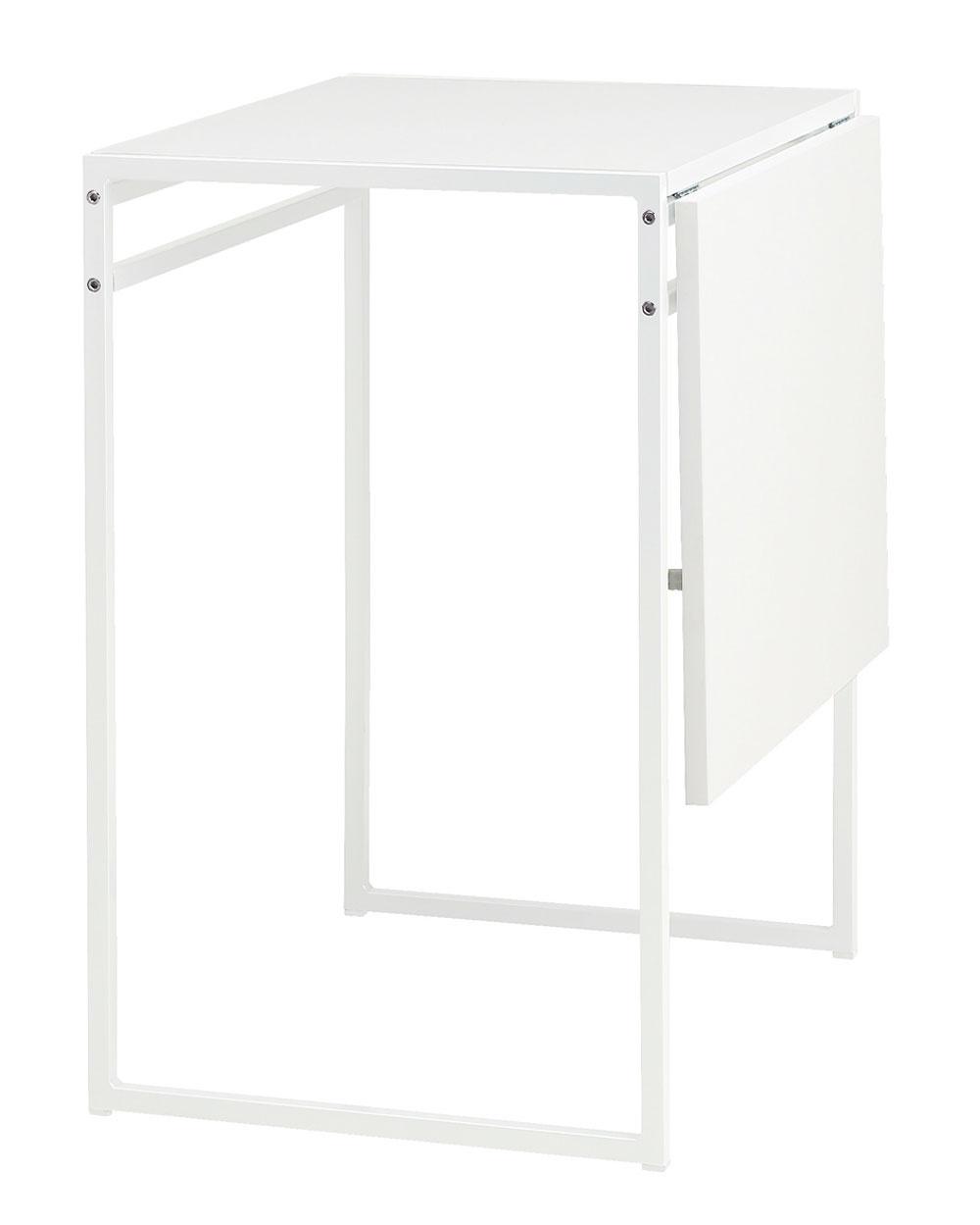 Stôl Muddus s odkladacou asklápacou doskou, jednoducho si upravíte veľkosť podľa potrieb apočtu miest na sedenie. Cena 39,99 €. Predáva IKEA.