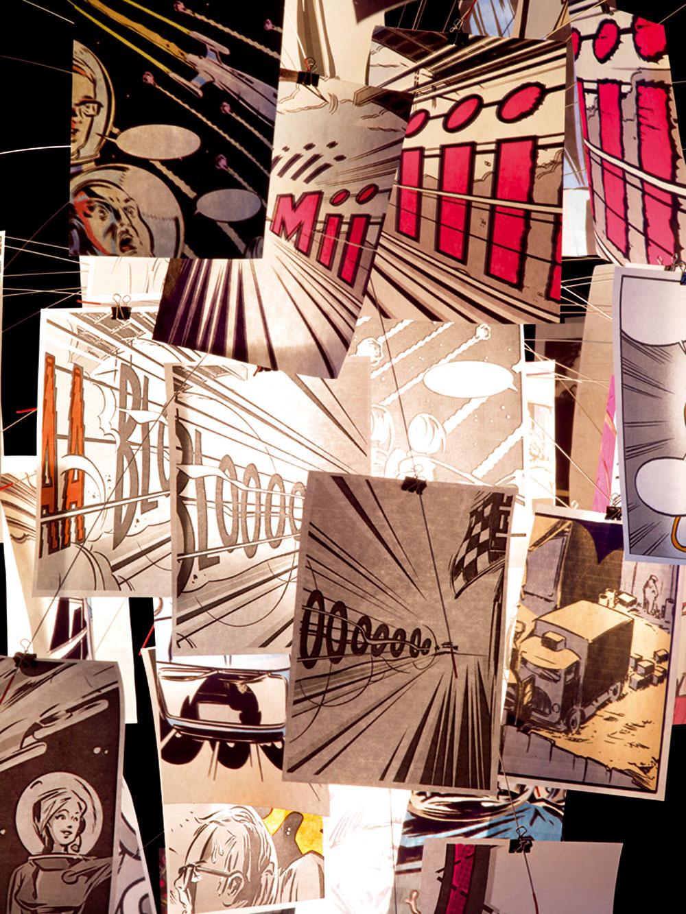 V novom kabáte sa predviedlo aj známe svietidlo BangBoom od kultového nemeckého návrhára Ingo Mauera. Keďže jeho osemdesiat japonských papierov formátu A5 je najnovšie potlačených komiksami, svietidlo výborne zapadalo do mladistvého rámca milánskeho veľtrhu.