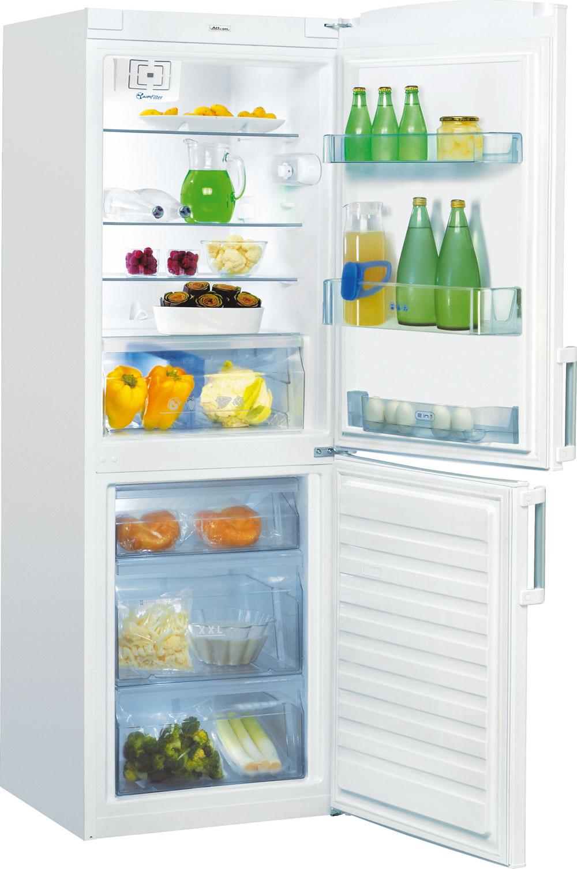 Chladnička Whirlpool WBE 31132 A++ W Green Generation zaradená do energetickej triedy A++. Spotreba energie 211 kWh/rok (0,58 kWh/deň), hlučnosť 39 dB. Objem 310 litrov (194/116), antibakteriálny filter, ventilátor, vrecúška Natur Fresh, automatické odmrazovanie chladnička, ručné mraznička, kapacita zmrazovania 4 kg/24h, odolnosť pri výpadku elektriny 24 h, jeden termostat aj kompresor, mechanické ovládanie. Cena539€. Predáva Okay Elektro.