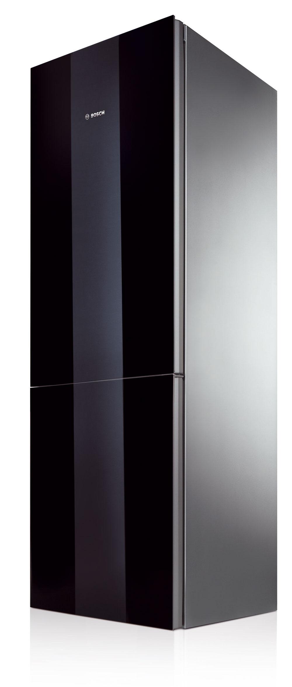 Kombinovaná chladnička Bosch KGN 36S51 NoFrost ColorGlass Edition. Antibacteria, systém MultiAirflow, spotreba 280 kWh/rok (0,76 kWh/deň), objem 284 litrov (221/63), hlučnosť 42 dB. Sklené dvere – integrovaná hliníková rukovať, strieborné boky, elektronická regulácia teploty pomocou TouchPremiumElectronic, LCD displej sgrafickým ukazovateľom spotreby energie, funkcia BottleTimer, úsporný režim ECO adovolenková prevádzka, detská poistka, filter AirFresh, ChillerSafe (–2 °C až +3 °C), superchladenie. Mraznička: supermrazenie, automatické odmrazovanie, 5-násobný bezpečnostný systém sakustickým signálom, kapacita mrazenia 8 kg/24 h, čas chladenia pri poruche 17 h, BigBox, (PizzaBox) sklapkou, IceTwister – výrobník ľadu, 2 chladiace akumulátory. Cena 1 099 €
