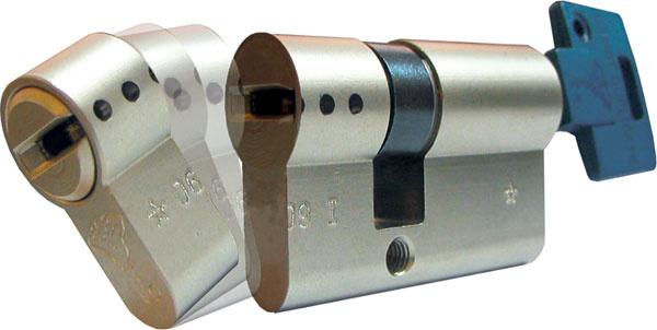Vložka B. S. (Break secure) značky Mul-T-Lock je zaujímavá tým, že pri pokuse orozlomenie sa odlomí jej vonkajšia časť. Zostávajúca časť vložky je naďalej funkčná amajiteľ kľúča sa dostane bez problémov dovnútra – jednoducho odomkne. Používa sa tam, kde je namontované otvorené kovanie (bez prekrytia rozetou) ahrozí rozlomenie vložky, čo je častý spôsob vlámania, ktorý používajú zlodeji-začiatočníci. Často sa využíva pri plastových dverách.