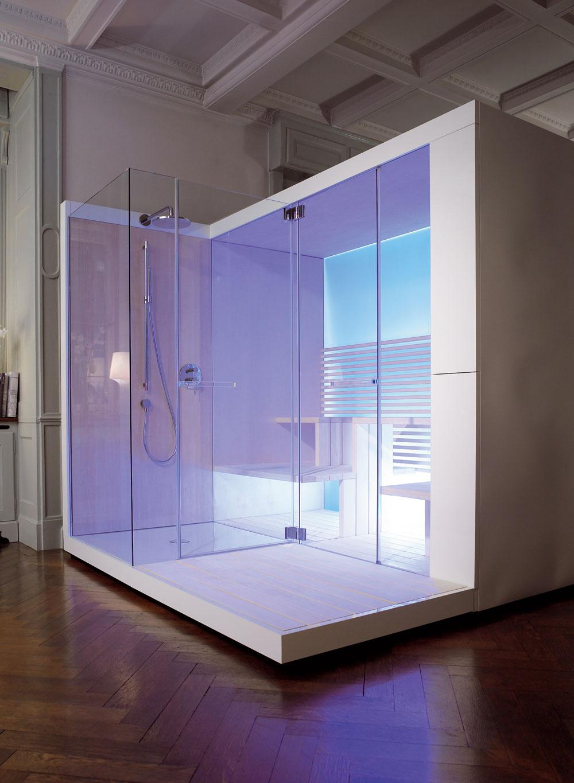 Dizajnéri značky Duravit odporúčajú odviazať sa aj farebne. Platí to nielen vkúpeľni, ale aj vdomácej saune.