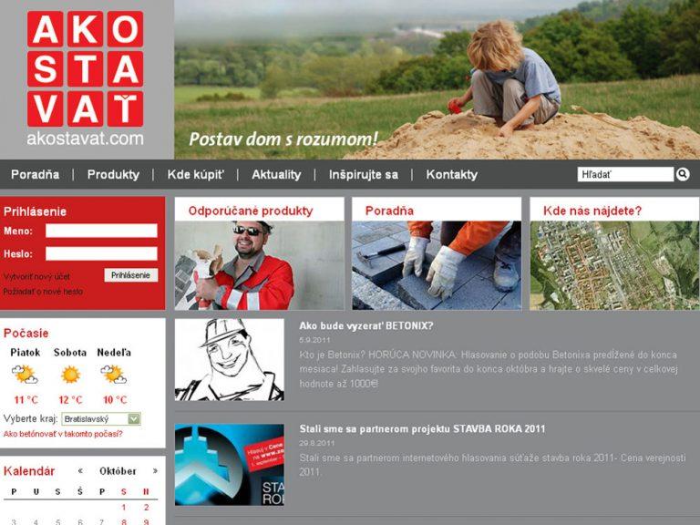 Pýtate sa ako stavať? Je tu nový stavebný portál www.akostavat.com