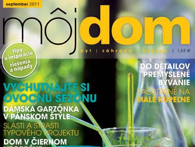 Výsledky súťaže testujte s nami z časopisu  Môj dom 09/2011