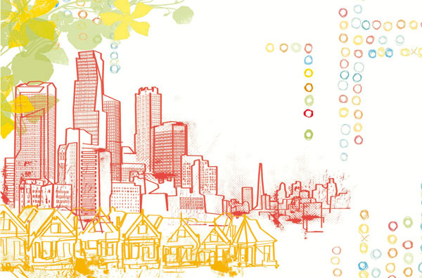 Obraz Pjätteryd – Urban life, motív vytvoril Sasha Blake, tlačené na plátne. Rozmery: 118× 78 cm. Cena 39,99 €.