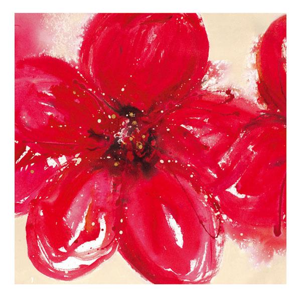 Obraz Pjätteryd – Skleníková červeň, motív navrhla Lilian Scott, tlačené na plátne. Rozmery:  90× 90 cm. Cena 39,99 €.