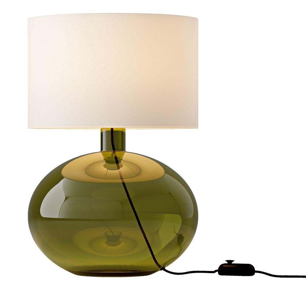Sklo vkaždom detaile – stolová lampa Ljusas ysby, 69,90 €, Ikea