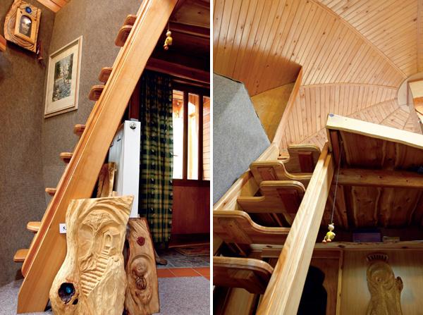 Tam, kde bola kedysi povala, je dnes byt. Tvarová čistota podkrovných schodov oddeľuje priestor pre všetkých od priestoru pre domácich. A preto, ak by niekto tvrdil, že tu človek nenájde svoje nerušené, tiché hniezdo, mýli sa.