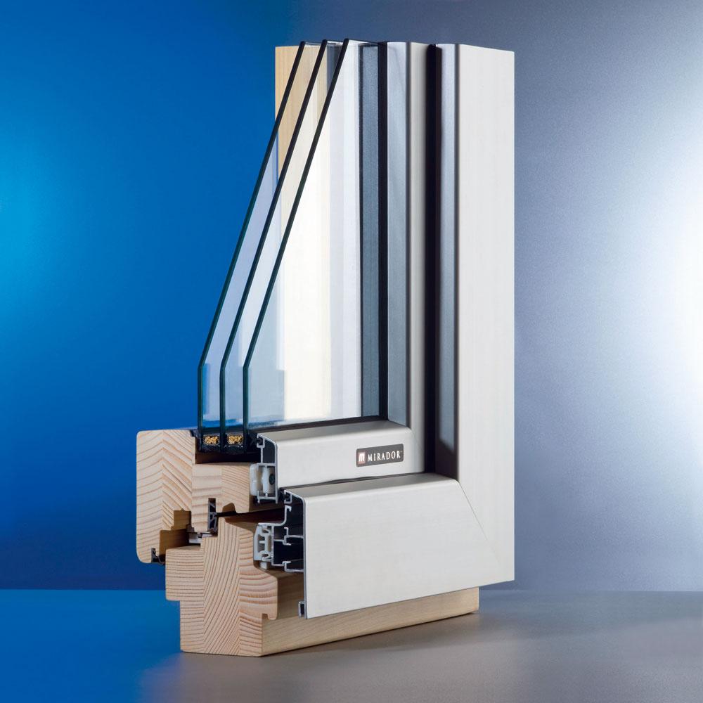 Do úvahy omodernom architektonickom vyhotovení stavieb spadajú aj kombinované okenné konštrukcie, napríklad drevo--hliníkové okná. Zexteriérovej strany, kde treba zachovať čisté línie, je rám okna hliníkový, interiér zase spríjemňuje drevo svojím prírodným teplom.