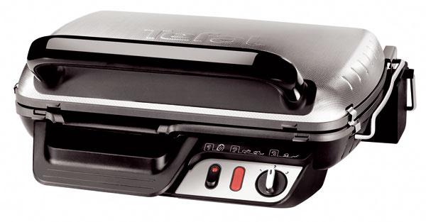 Kompaktný gril Tefal XL800 Comfort GC601033, príkon 2000 W, jednoduchá údržba vďaka odnímateľným grilovacím doskám amiske na odkvapkávanie tuku ašťavy umývateľným vumývačke, izolovaný plášť apohodlné držadlo, nepriľnavý povrch grilovacích platní, pozícia grill & barbecue, nastaviteľný termostat, priestor na uloženie prívodnej šnúry, kovová povrchová úprava. Odporúčaná cena 139,90 €.